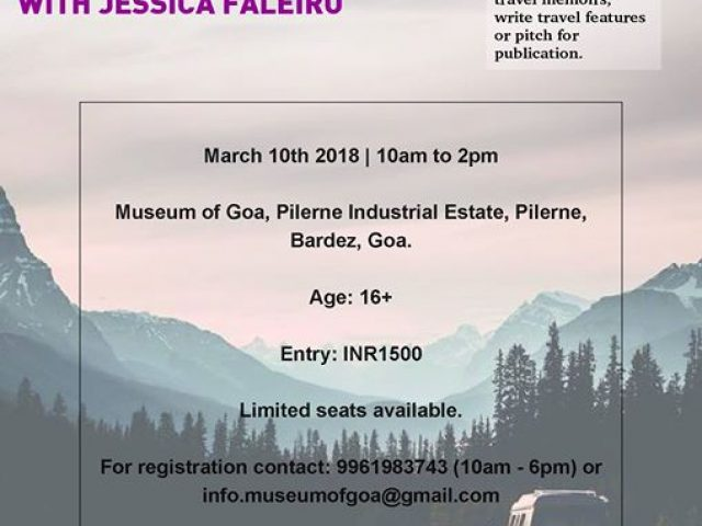 Travel Writing workshop with Jessica Faleiro