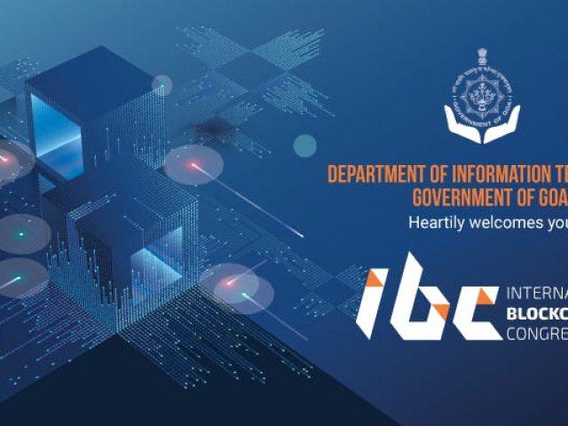 IT Dept. of Goa to hold International Blockchain Congress (IBC)  on August 5