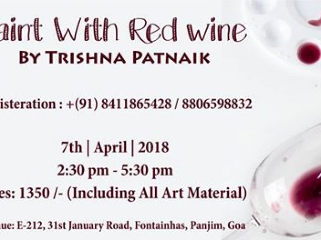 Paint with Red Wine on 7th April 2018