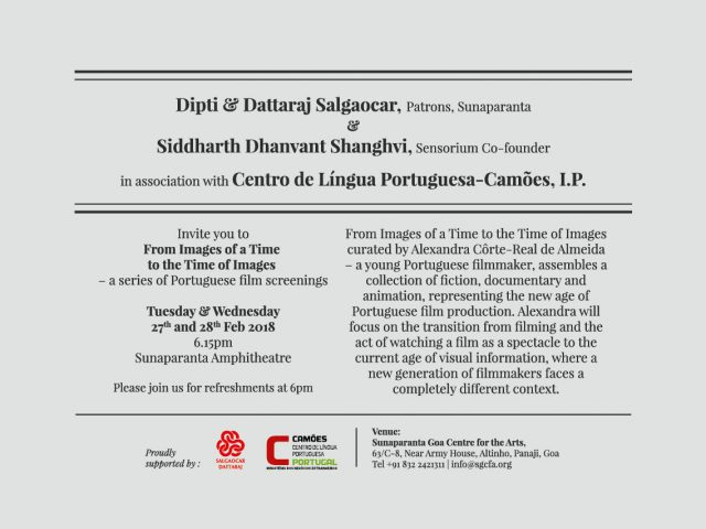 Portuguese film screenings at Sunaparanta (Sensorium 2018)
