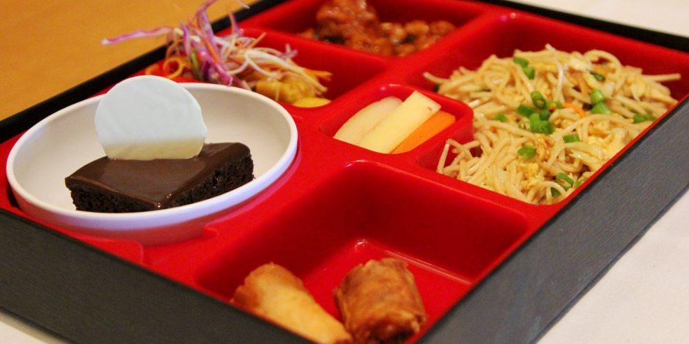 Pan Asian food in a box