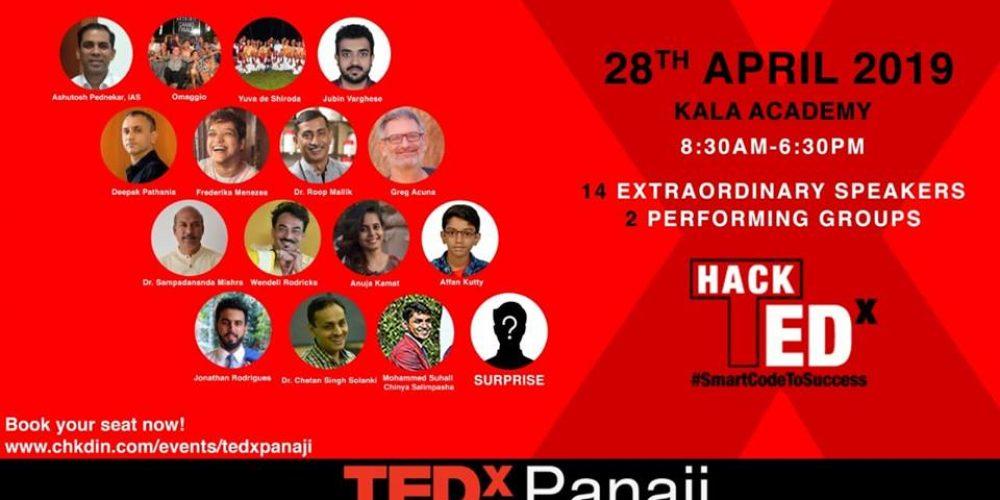 Get 'Hacked' at TEDx Panaji '19