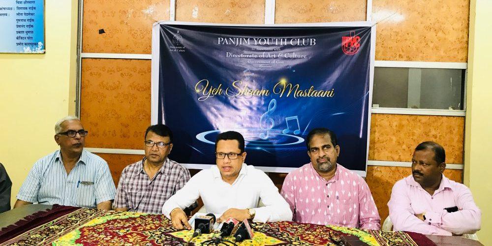 'Yeh Shaam Mastaani'- Panjim Youth Club's upcoming musical programme