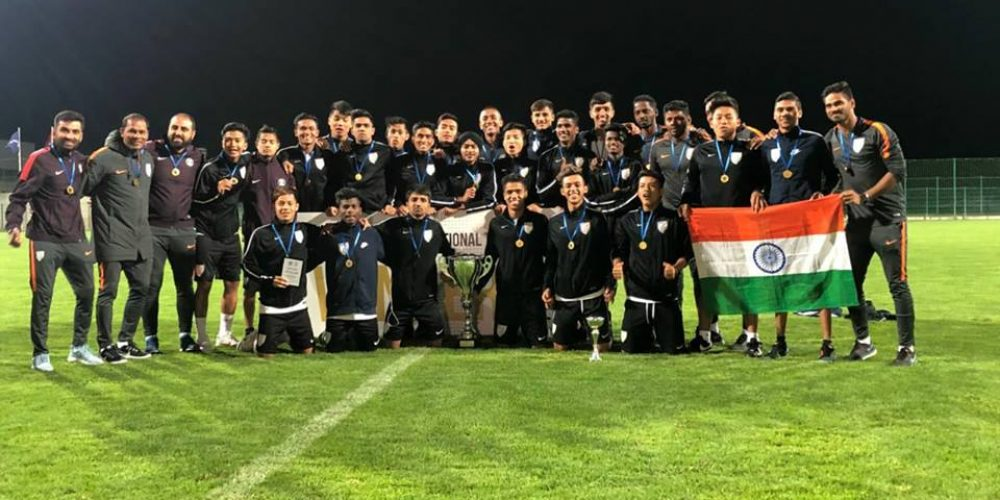 Indian U-16 football team wins the 4 Nation tournament, beats Tajikistan in final