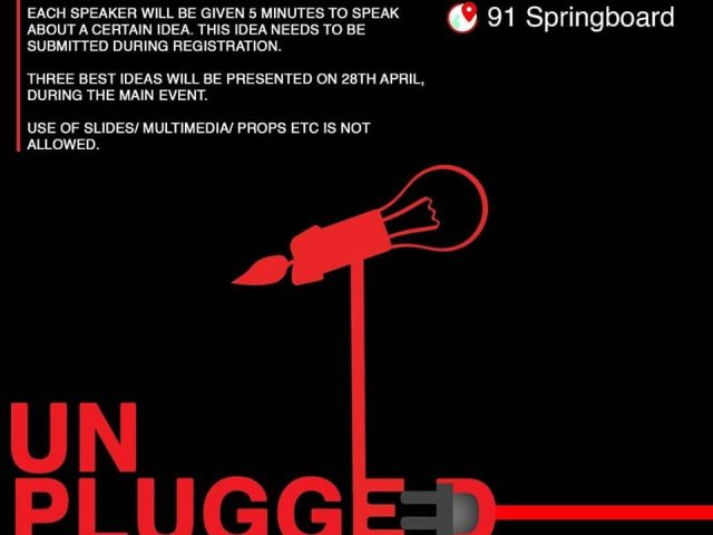 TEDx Unplugged on April 25
