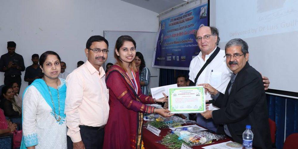 Mandira Faldesai awarded IGS gold medal for topping ME exam
