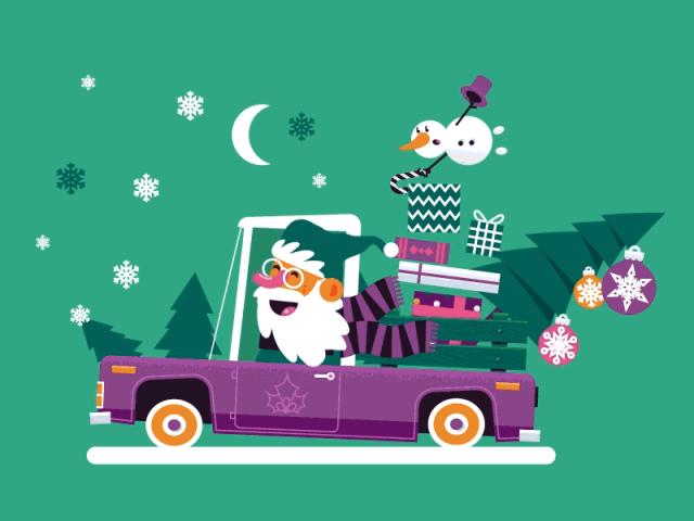 Santa's riding to town
