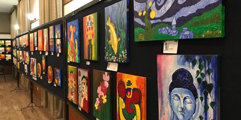 Splashes of colour by special students