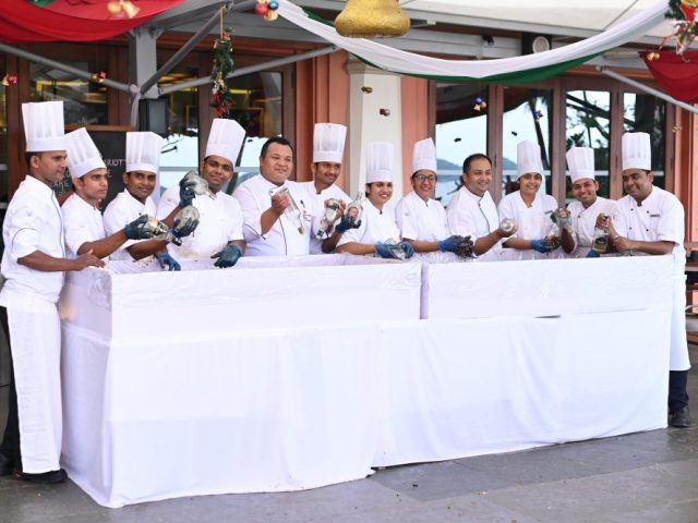 Marriott's Annual Brunch and Cake Mixing Ceremony