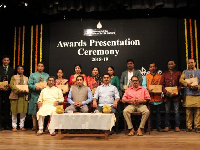 Artistes awarded for contributing to Goa's art and culture