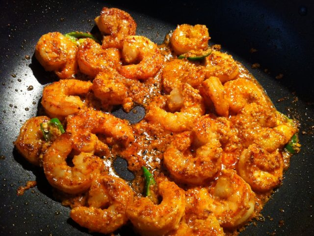 From Grandma's Kitchen: Prawn Chilly Fry