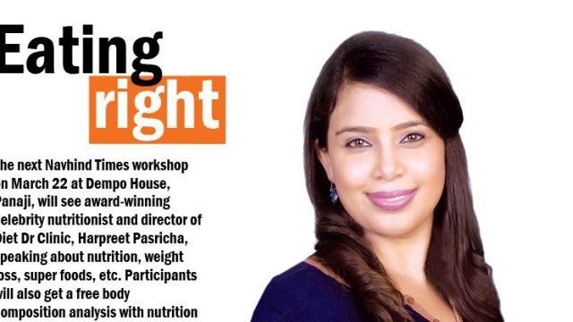 Learn how to eat right ~ Upcoming Session by Harpreet Pasricha